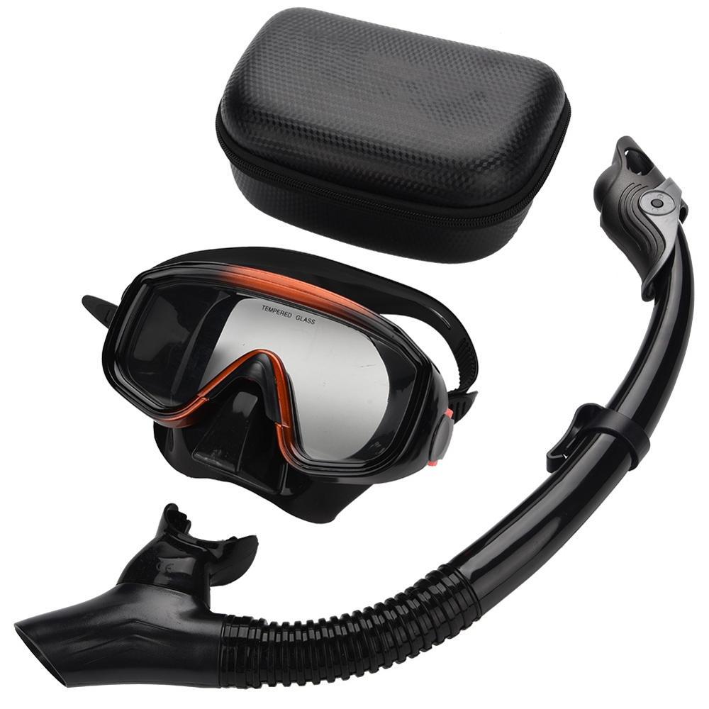 Anti-fog Scuba Mask Set  Diving Mask Underwater Swimming Silicone Mask+Breathing Tube Set Snorkeling Swimming Equipment