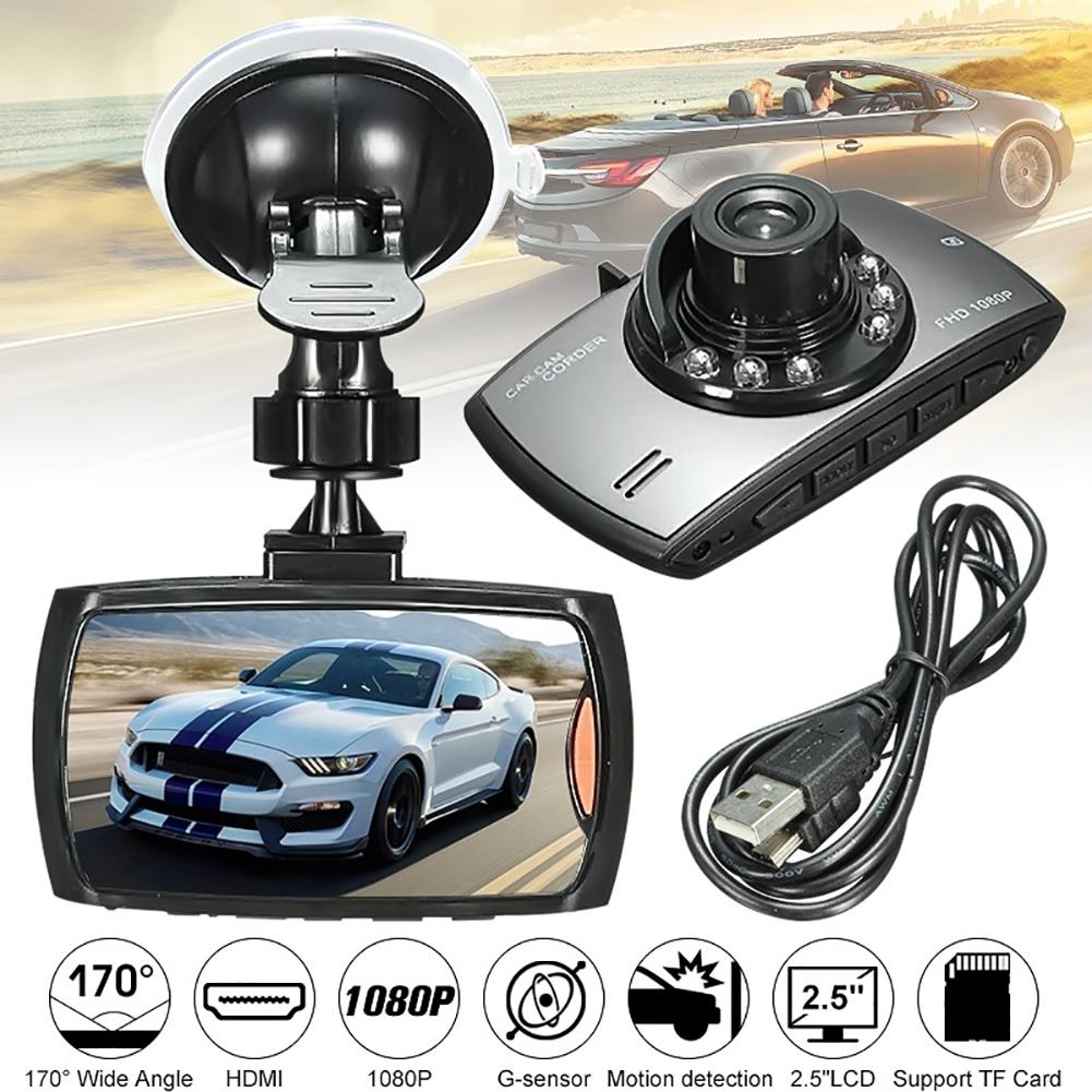 Hot 2.5 Inch LCD 1080P Car DVR Camera Dash Cam Video Recorder G-sensor Night Vision Recroder Camcorder Car Accessories Interior