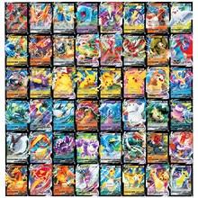 Nova versão inglês cartão pokemon caracterizando 60 v max tag team 200 gx 20 energia 20 mega 20 ex 10 treinador brilhando jogo cartões de negociação