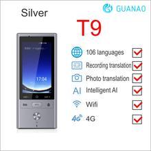 106 Talen Real Time twee weg vertaling Smart offline Voice Vertaler WIFI + 4G Meertalige Vertaler voor Reizen