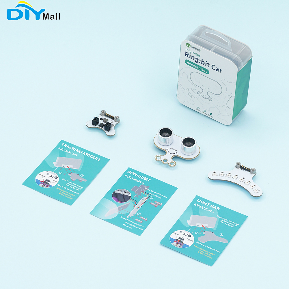 para Micro: Bit Módulo de Rastreamento e Barra de Luz Led para Crianças Anel: Carro Acessórios Kit Sonar: Educação Diy Bit v2