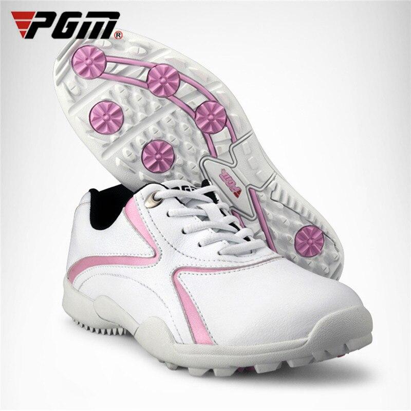 Sapatos de Golfe de Pouco Senhora à Prova Sapatos de Golfe Marca Feminina Peso Feminino Lazer Esporte Tênis Dwaterproof Água Respirável Anti-deslizamento Unhas Pgm