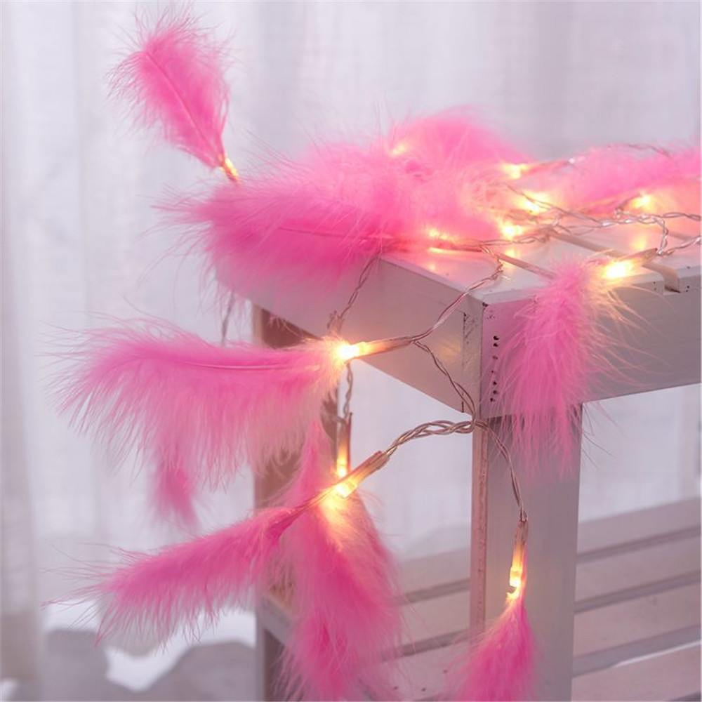 10/20 Leds Feather Led String Light Christmas Fairy Home Decoration AA Battery Powered Energy-saving Party,Birthday,Holiday