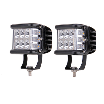 2Pcs ECAHAYAKU For 4x4 Car Led Bar 4Inch 60W Pods Driving Fog Off-road LED Work Light Side Shooter Styling Rescue Truck SUV