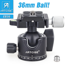 ARTCISE EB36 Tripod Ball Head Low Profile Tripod Head Panoramic Lower Gravity Center Design Smooth Operation Max Load 15kg/33lbs
