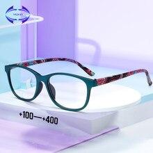 Mulheres Homens Óculos De Leitura Lupa Óculos De Policarbonato TR90 VCKA Claro Leve Presbiopia Dioptria + 1.0 a + 4.0