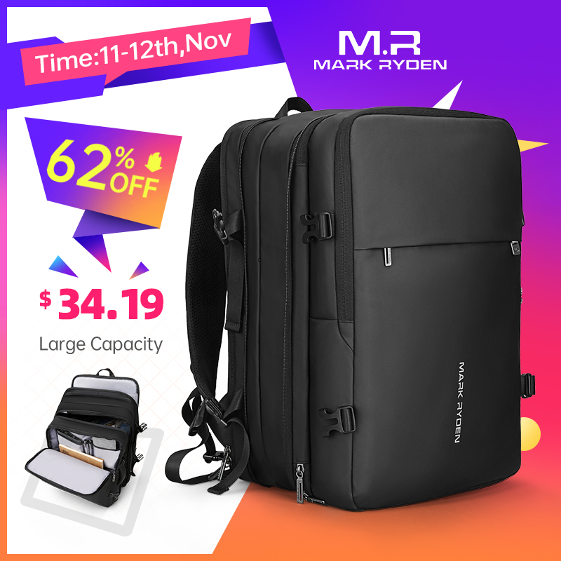 Mark Ryden Men Backpack Fit 17 inch Laptop USB Recharging Multi layer Space Travel Male Bag Anti thief Mochila Backpacks  - AliExpress