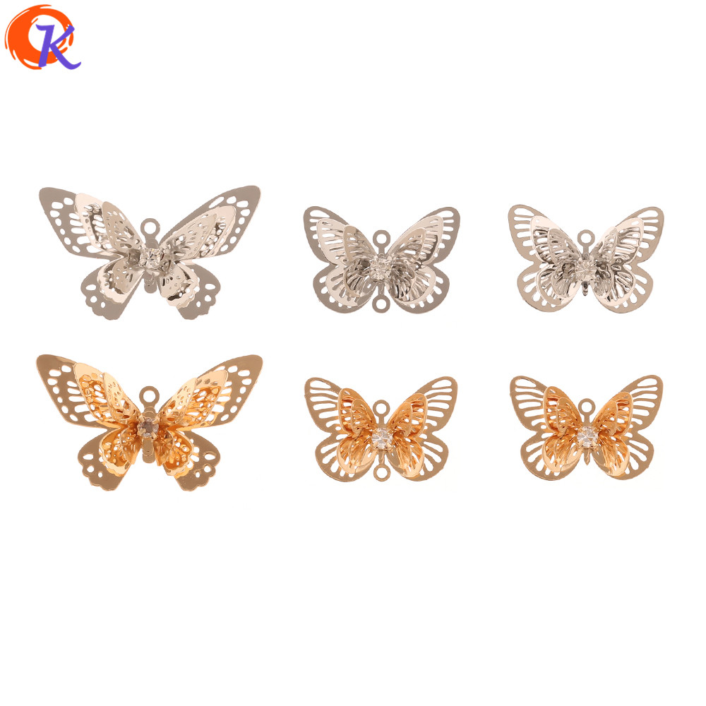 Cordial Design 50Pcs Jewelry Accessories/Earrings Charms/DIY Making/Sheet Copper/Butterfly Shape/Hand Made/Earring Findings