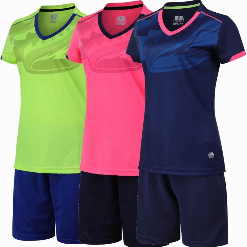 Women-Female-girl-Soccer-Jersey-Set-Football-Jersey-Tracksuit-Soccer-V-neck-Training-Suit-survetement-Football