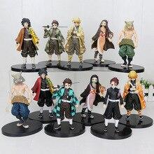 16cm Japan Anime Dämon Slayer Kimetsu keine Yaiba figur Kamado Tanjirou Nezuko PVC Action Figure Krieger Modell Figuals Spielzeug geschenke
