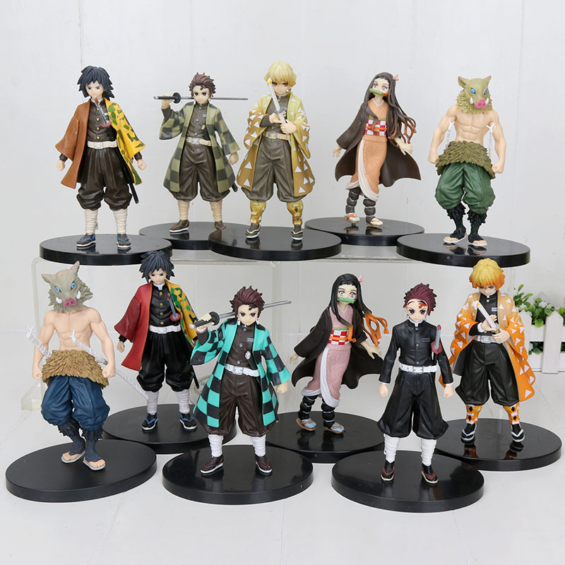Demon Slayer PVC Action Figures Tanjirou Anime Kimetsu no Yaiba Figurine