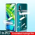 1-2 шт. Гидрогелевая пленка для задней панели Xiaomi Mi 8 Lite CC9e CC9 Pro Mi8 Micc9 Micc9e mi CC9pro защита для экрана не закаленное стекло
