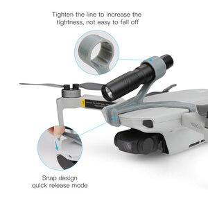Image 4 - Drone Night Flight LED Light For DJI Mavic Mini Photography Fill light Lamp 3D Printed Flashlight Bracket mavic mini Accessories