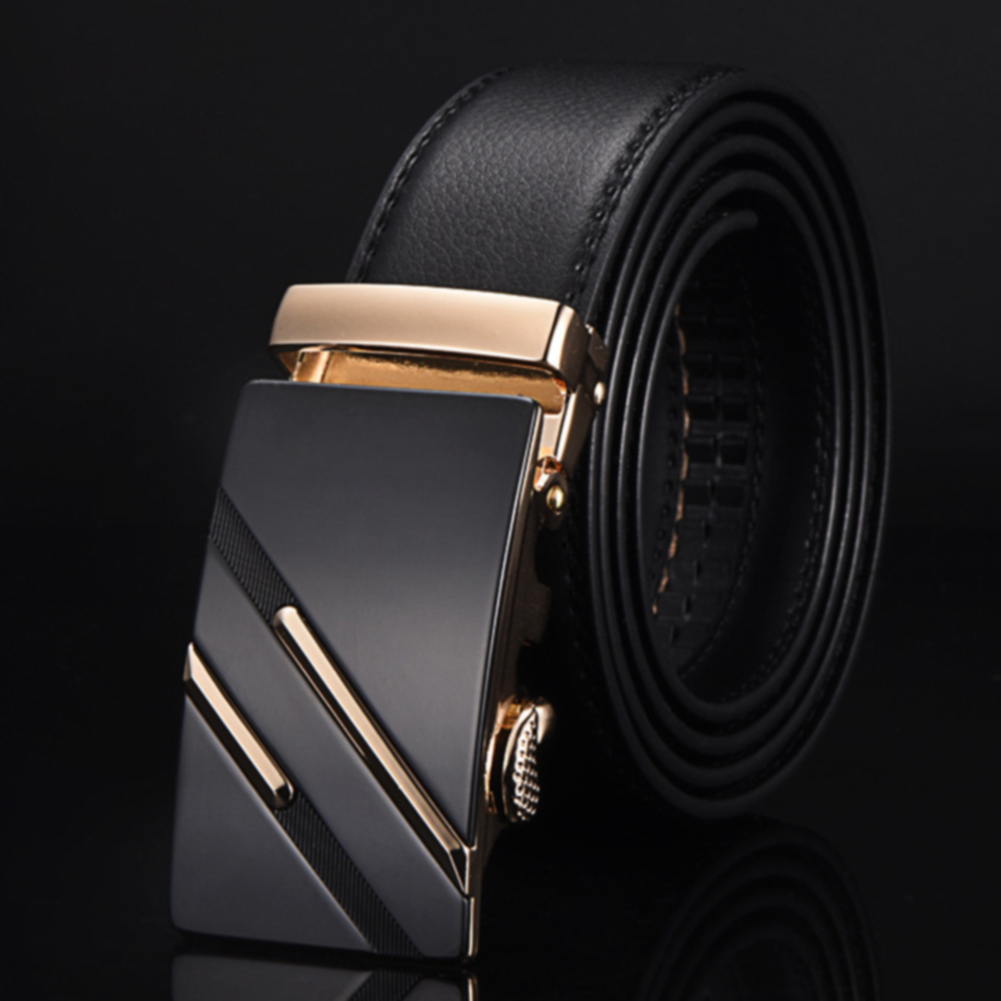Casual Simple Automatic Buckle Waistband Men Belt Waist Strap Business Classic PU Leather Adult Non Slip Rustproof Fashion Gift
