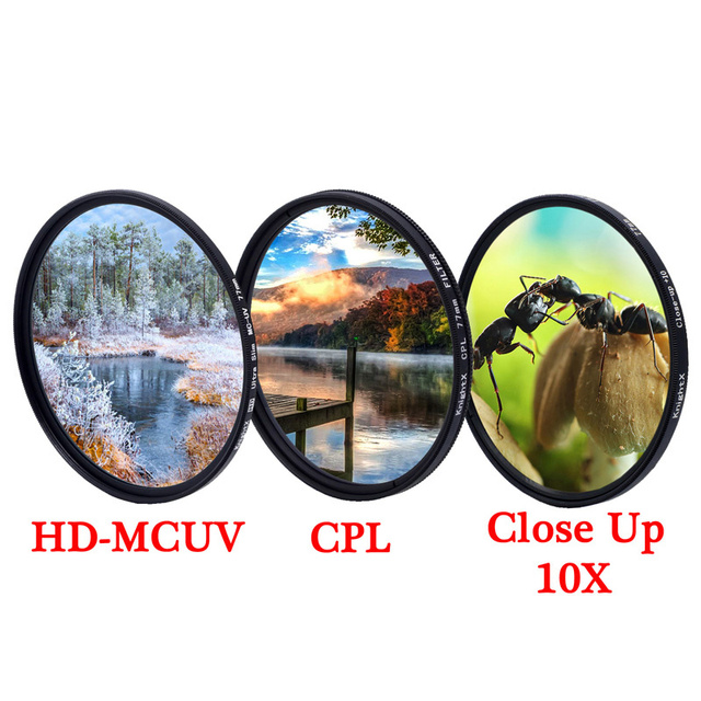 KnightX MCUV UV CPL ND2 ND1000 variable polarizer Camera Lens Filter 49 52 55 58 62 67 72 77 mm photography phone dslr color