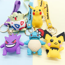LLavero de pokemon para figuras de acción, modelo de llavero de Pikachu