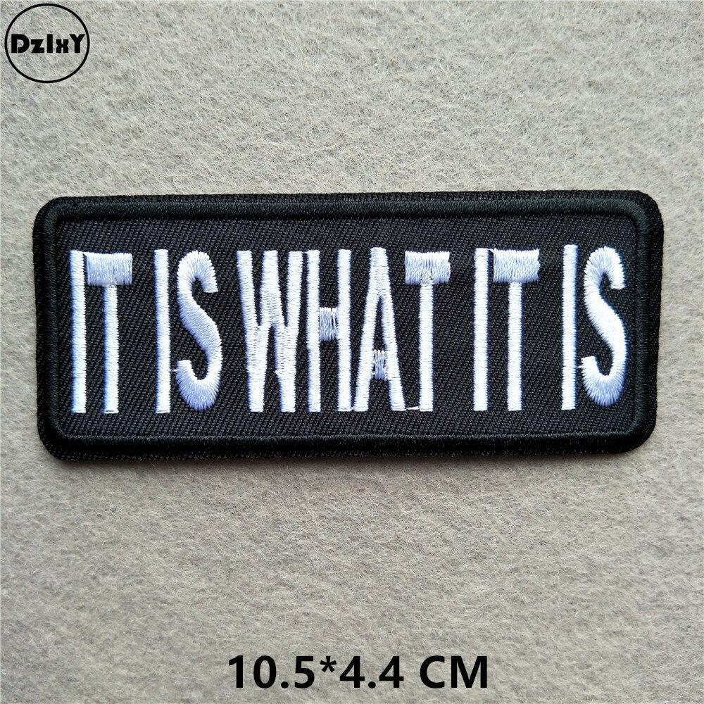 Черно-белые вышитые нашивки с английским алфавитом для одежды, сделай сам, полоски, написанные слова, наклейки, буквы для одежды, железные значки@ B - Цвет: 1-PCS-B-87