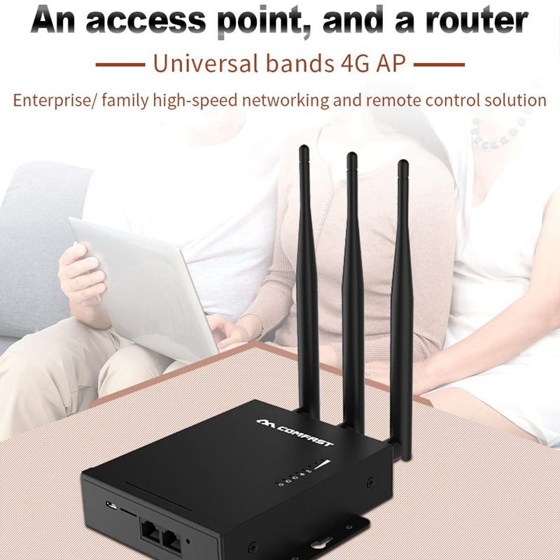 Com fa st CF E7 Outdoor 2.4G LTE Wireless AP Wifi Router Plug and Play 4G SIM Card Waterproof Wireless Router 3X5DBi Antenna AP|Wireless Routers| |  - title=