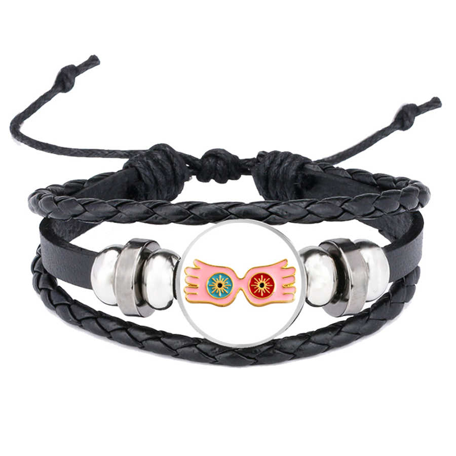 H Potte Luna Lovegood S Glasses Bracelets H P Lovegood Glasses Leather Bracelets Costume Accessories Ornament Jewelry Aliexpress