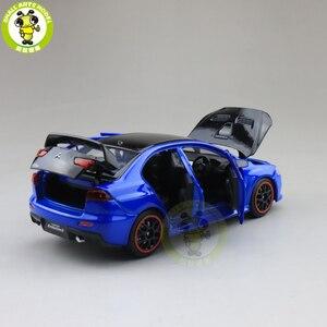 Image 5 - Модель автомобиля jackiфотовспышки Mitsubishi Lancer EVO X 10 BBS RHD с черной крышей, модель автомобиля, игрушки для детей, 1/32