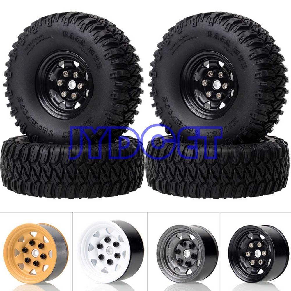 "1.55/"" Rubber Terrain Wheel Tire for RC MST JIMNY Axial AX90069 D90 TF2 CC01 LC70"