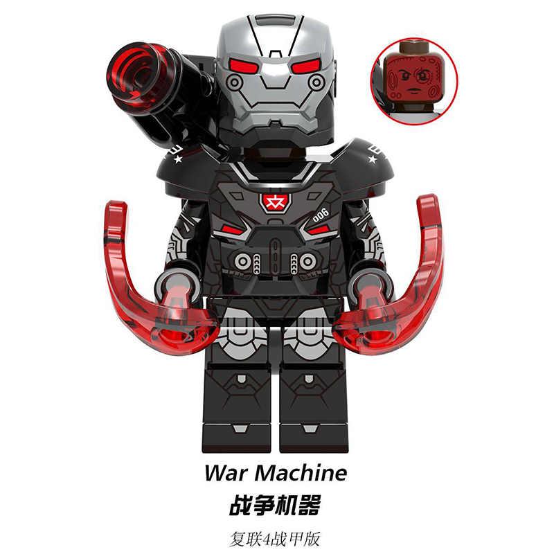 La signora Capitan Marvel America Avengers Iron Man Hawkeye Antico di Un Pepe Falcon Nebulosa Thor Modello Building Blocks Figure Giocattoli