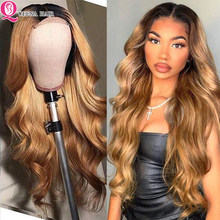 Blonde Lace Front Wig Brown Two Tone Human Hair Wigs Ombre Body Wave Lace Front Human Hair Wig Indian Body Wave Closure Wig 180