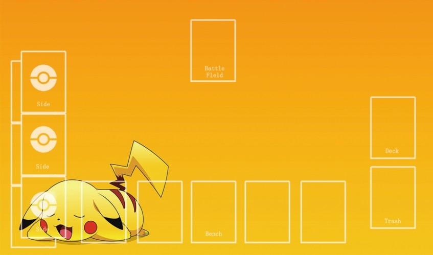 Takara Tomy PTCG Accessories Pokemon Playmat Card Table Game Pikachu Orange Toys For Children