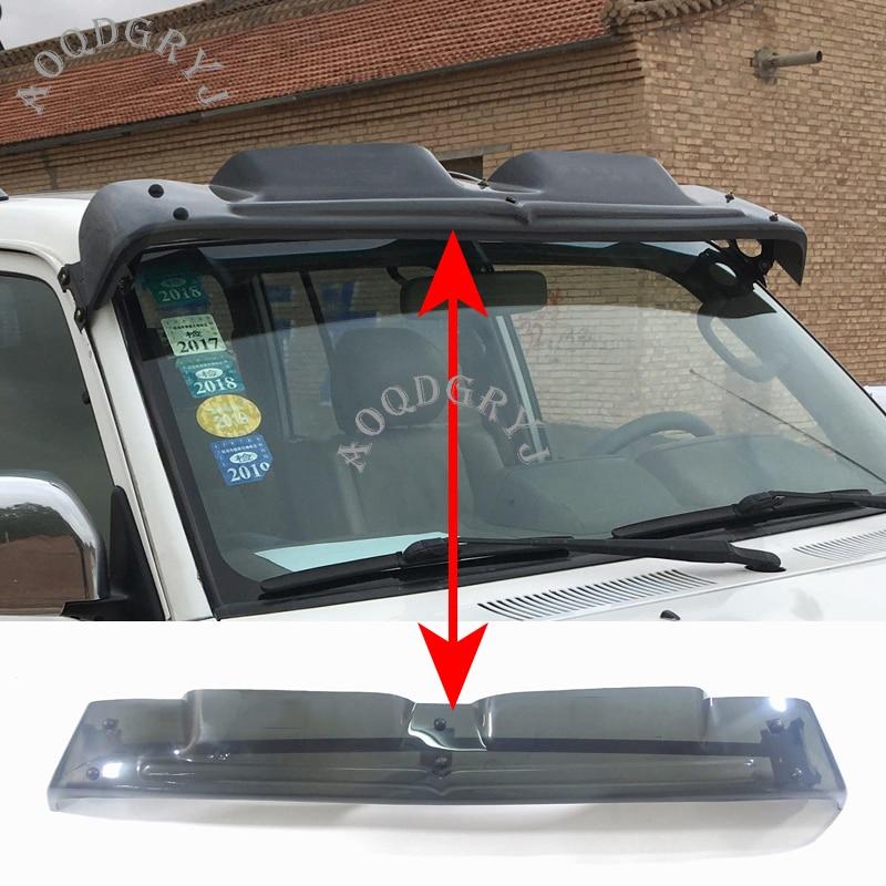 Stylizacja samochodu dla Toyota Land Cruiser Prado LC90 FJ95 1998-2002 półprzezroczysty przedni spoiler przeciwsłoneczny