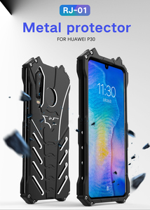 Image 1 - Abdeckung Fall Für Huawei P30 R JUST Heavy Duty Rüstung BATMAN Stoßfest Metall Aluminium Phone Cases Für Huawei P30 Lite/ p30 Pro