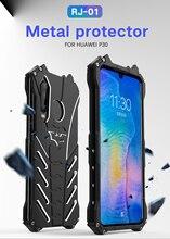 غطاء حافظة لهاتف Huawei P30 R JUST الثقيلة درع باتمان للصدمات معدن الألومنيوم الهاتف حالات لهواوي P30 لايت/P30 برو