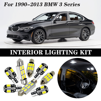 Perfect White Canbus Error Free LED bulb interior dome map indoor light Kit for 1990-2013 BMW 3 Series E36 E46 E90 E91 E92 E93 image