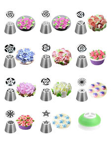 Bag Nozzles Pastry-Tips Cake-Decorating-Tools Cupcake Tulip Russian Stainless-Steel Flower-Cream