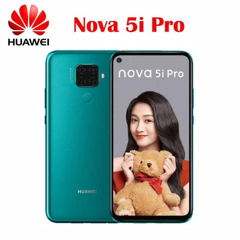 Официальный Новинка, оригинал, Huawei Nova 5i Pro сотовый телефон 6,26 дюймов 6 ГБ 128 Kirin 810 Octa Core 4000 мАч отпечатков пальцев Android 9,0 OS