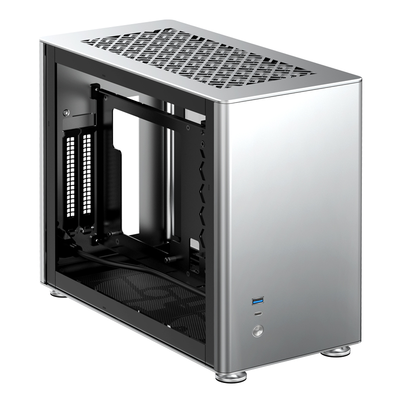 Jonsbo A4 Silver A4S ITX Chassis Supports 240 Water-cooled SFX-L Power Supply Aluminum-magnesium Desktop Computer