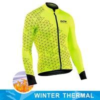 Nw 2019 pro team men ciclismo jaquetas inverno velo térmico camisa de bicicleta ciclismo quente mtb roupas jaqueta northwave
