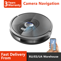 2019 High End Camera Navigation Robot Vacuum Cleaner,WIFI APP controlled, Breakpoint Continue Cleaning, Adjustable Suction Power