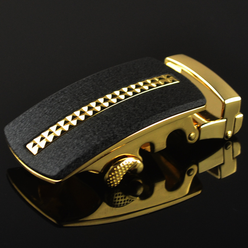 Genuine Men's Belt Head, Belt Buckle, Leisure Belt Head Business Accessories Automatic Buckle Width 3.5CM Luxury LY125-0436