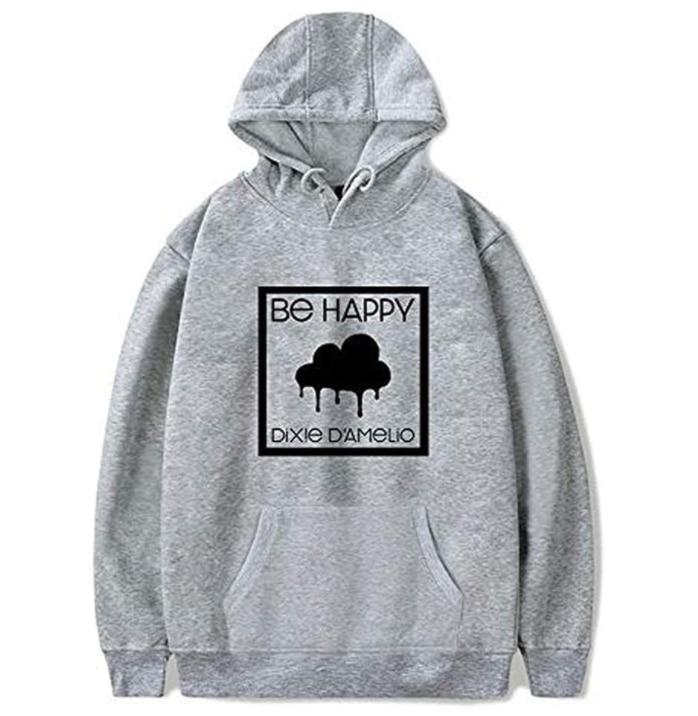 2020 Dixie D'Amelio Hoodie Sweatshirts Men/Women Clouded BE Happy Merch Hoodies Unisex Tracksuit Streetwear 6