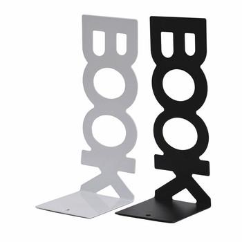 Bookends długa książka alfabet książka przegroda klips do książek metalowa do książek stojak książka plik książka stojak klips do książek książka zakładka personalizacja tanie i dobre opinie CN (pochodzenie) Magazyn rack Meble biurowe Meble komercyjne 120*100*165mm SL6 8-206