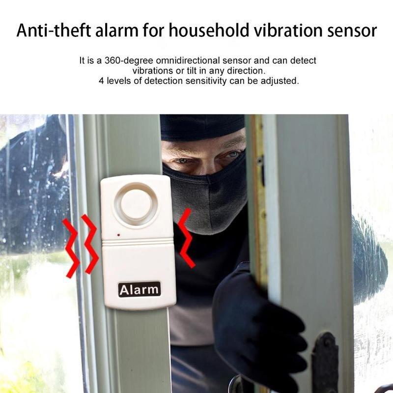Home Security Detector Türklingel Gegen Diebe Mini Sensor Vibration System Tür Alarme Alarme Fenster 120db Anti-diebstahl M6B2