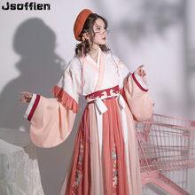 Chinês tradicional mais tamanho hanfu traje feminino dança folclórica roupas oriental han dyansty cosplay vestido de festa de fadas