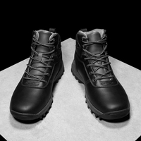 Fashion Warm Men Boots Vintage Style Casual Shoes Lace Up Leather Motorcycle s Waterproof HX 036