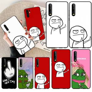 Чехол для телефона с забавными героями мультфильмов PENGHUWAN meme, для Huawei Honor 20 10 9 8 8x 8c 9x 7c 7a Lite view pro