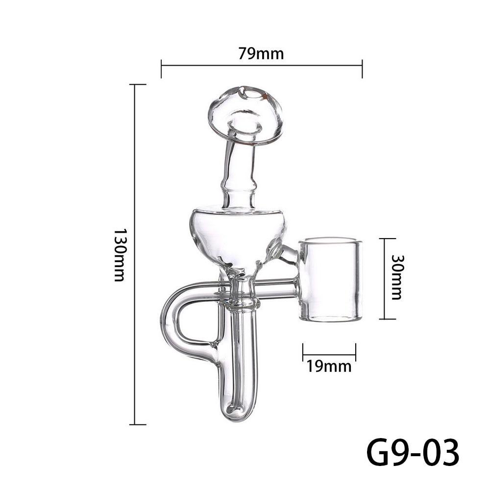 G9 19MM Detachable Glass Bubbler Mouthpiece Bong Attachment for 510 Nail/H Enail/Henail Plus/TC PORT/Clean Pen/GDIP Dab Rig Kit 4