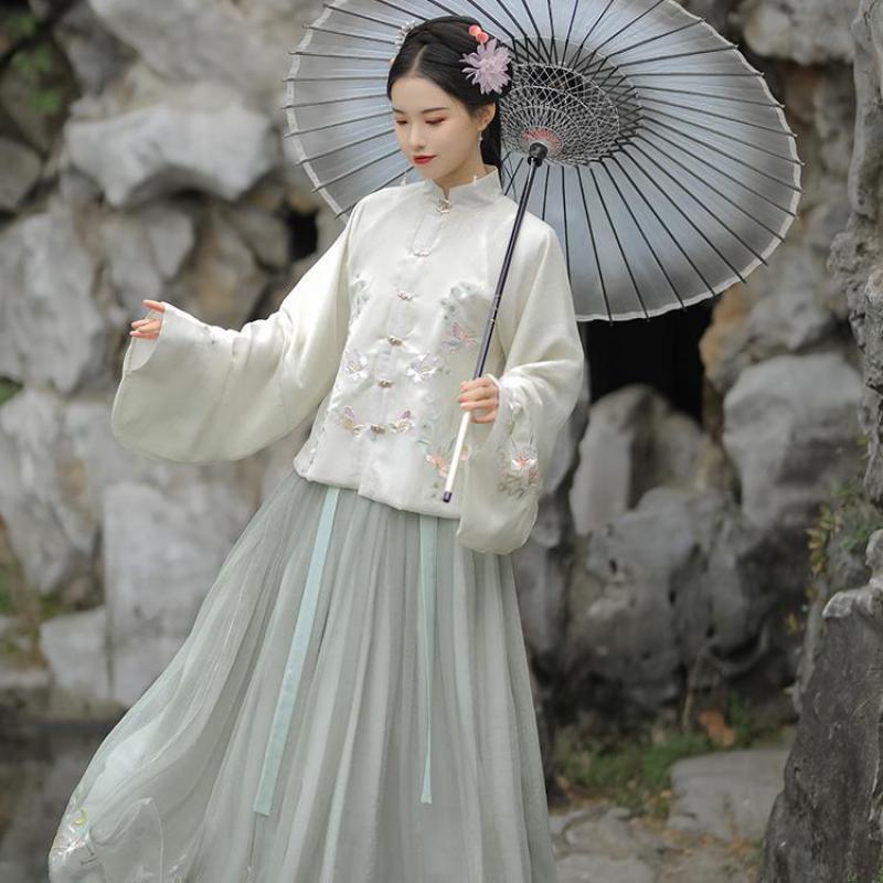 Peri prenses kostüm Tang takım çince geleneksel Hanfu elbise kadınlar için antik Tang hanedanı halk dans sahne performansı