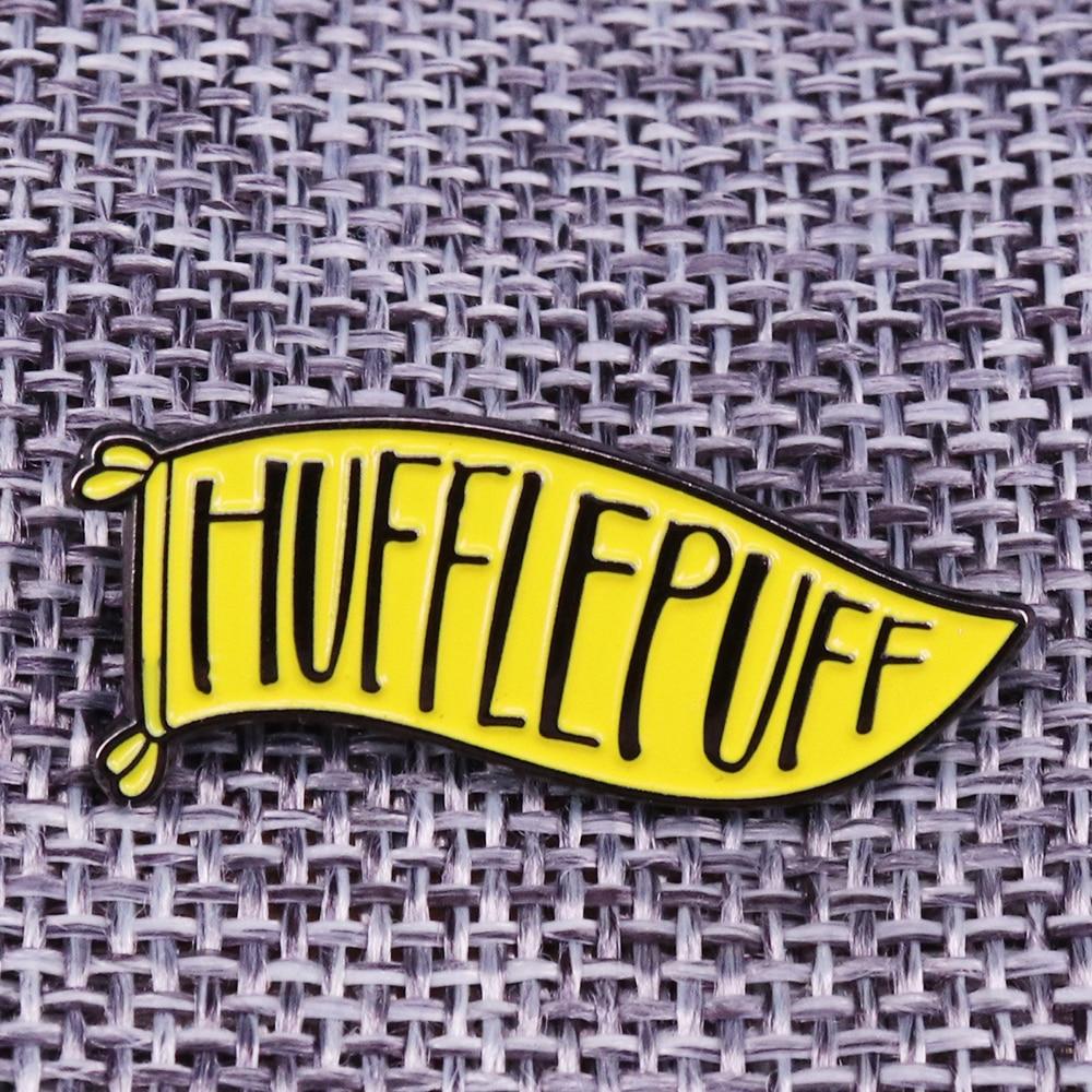 Брошь Hufflepuff Houses Crests простая и верная эмалированная булавка идеальный подарок для любителей Поттера