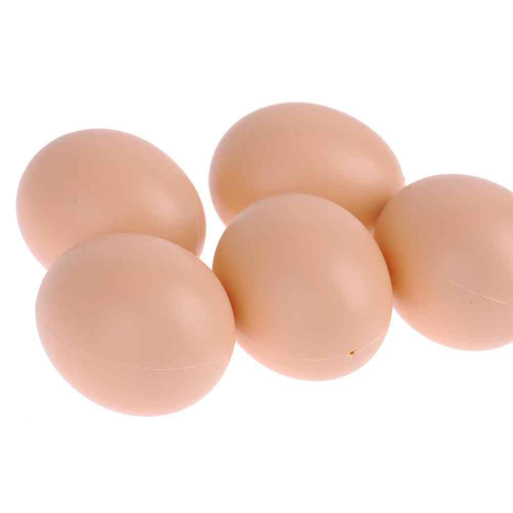 5 Buah/Set Hen Unggas Plastik Fake Dummy Telur Lapisan Ayam Kandang Kandang Ayam Bebek Angsa Inkubasi Peternakan Hewan Peliharaan Pasokan