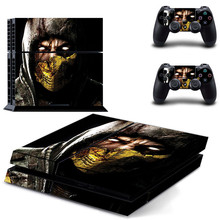 Mortal Kombat PS4 Skin PS 4 Sticker Play station 4 Stickers Pegatinas Adesivo For PlayStation 4 console and 2 controller