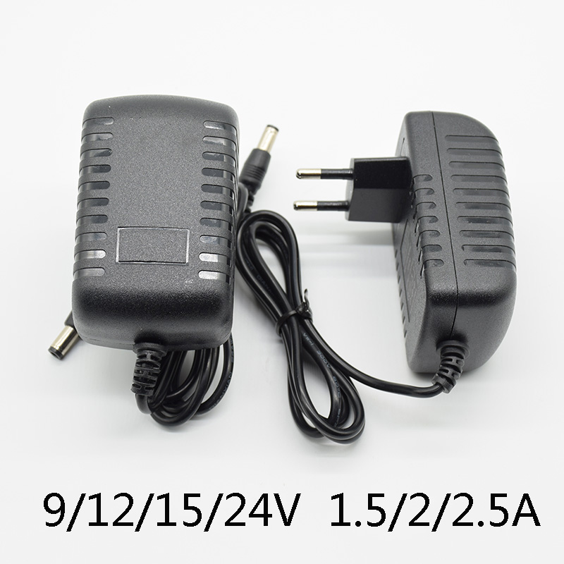 AC 110-240V DC <font><b>12V</b></font>/15V/24V 1.5A 2A 2.5A mA Universal Power <font><b>Adapter</b></font> Supply Charger <font><b>adapter</b></font> Eu for LED light strips 15V 2A 24V 1A image